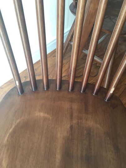 丽巢 北欧实木餐桌1.3m现代简约小户型餐桌椅组合原木日式长方形餐桌 TY130 胡桃色 一桌六椅(TB-21温莎椅*6) 晒单图