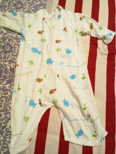 南极人(Nanjiren) 婴儿睡袋夏季春秋纯棉儿童冬季分腿防踢被宝宝纱布睡被 粉色小鱼夏季前4后2 80码/适合身高80-100cm 晒单图
