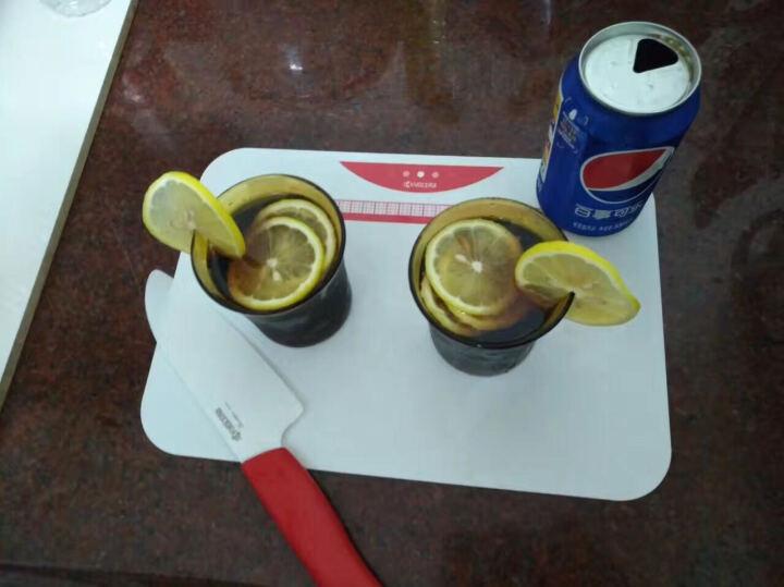 京瓷(KYOCERA)厨房陶瓷刀 刀具套装 菜刀 水果刀 削皮器 砧板 切片工具 五件套(全6色) 红色 晒单图