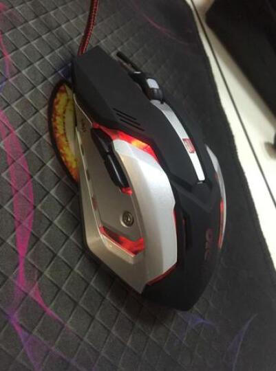 沃野 牧马人3代守望先锋无声静音加重笔记本台式电脑 LOL吃鸡CF绝地重生宏游戏鼠标有线 X7金属底磨砂黑 晒单图