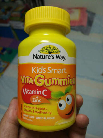 Nature's Way Kids Smart佳思敏儿童软糖系列 儿童维生素C+锌软糖 60粒 晒单图