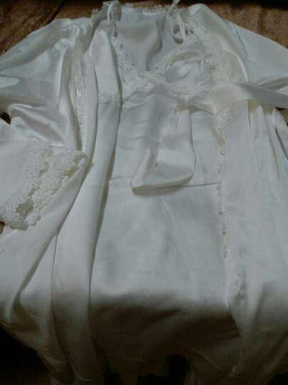热妒睡衣秋女夏吊带睡裙性感两件套家居服 茉莉白5570 女XL 晒单图
