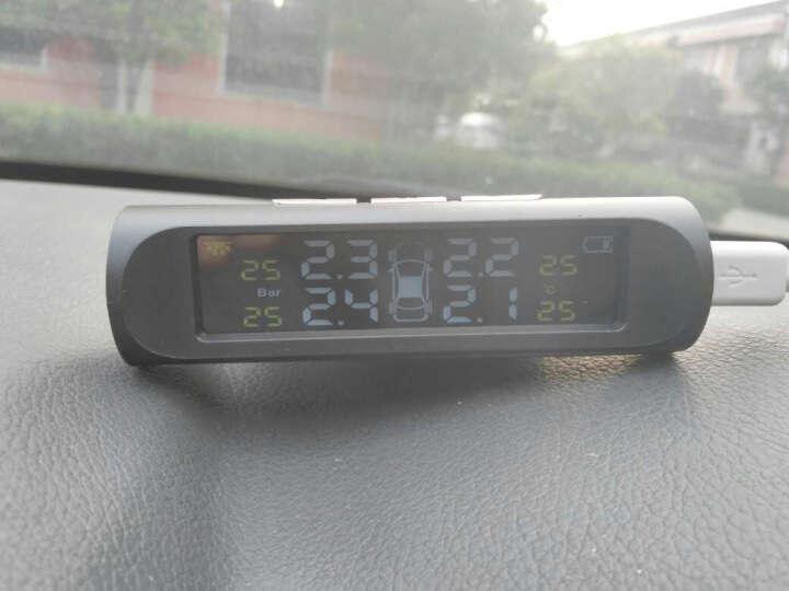 帕萨特胎压监测无线外置内置太阳能TPMS胎压胎温同屏显示 外置(黑色) 晒单图