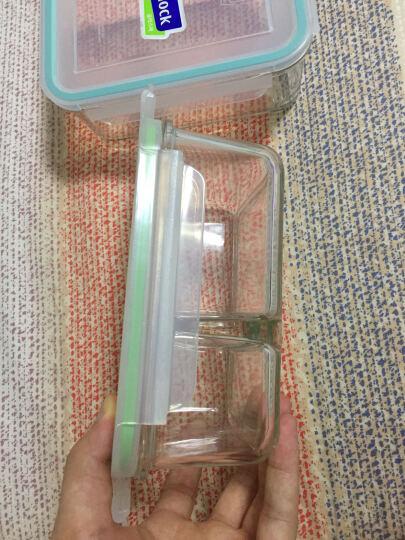 GLASSLOCK 饭盒 保鲜盒韩国进口钢化玻璃分隔饭盒微波炉碗便当盒保温袋 大饭量硬汉款 分隔1000+1100ml 晒单图