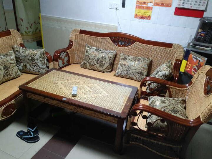 司库诺 藤沙发 小户型藤木沙发床 藤椅沙发 藤贵妃椅 藤贵妃床 茶几 晒单图