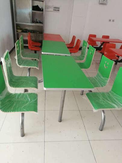 朗博万 肯德基快餐桌椅 现代4人位一桌四椅麦当劳奶茶店甜品店小吃店饭店食堂餐桌椅连体批发 彩色四人桌整套 晒单图