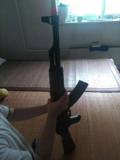 左轮可发射电动连发玩具枪发射 连发左轮(暗银色)+4万水弹 晒单图