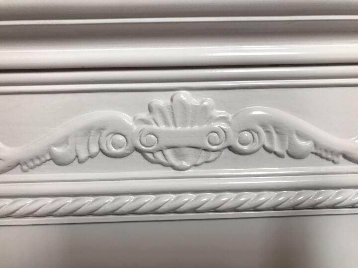 林中漫步床头柜 实木框架床头柜 简约欧式白色田园小床边柜 百搭多功能橡胶木质收纳柜 象牙白(一个) 晒单图