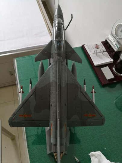特尔博 1:30歼10战斗机飞机军事模型 仿真合金金属模型摆件 60周年纪念 晒单图
