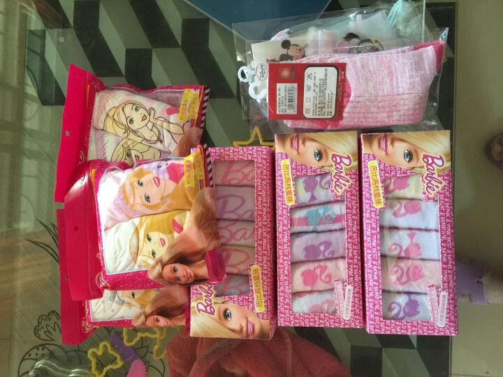 芭比(Barbie) 芭比儿童袜子 女童精梳棉6双组 公主短袜子 初秋款-87930女童6双组 18-20cm适合6-8岁 晒单图