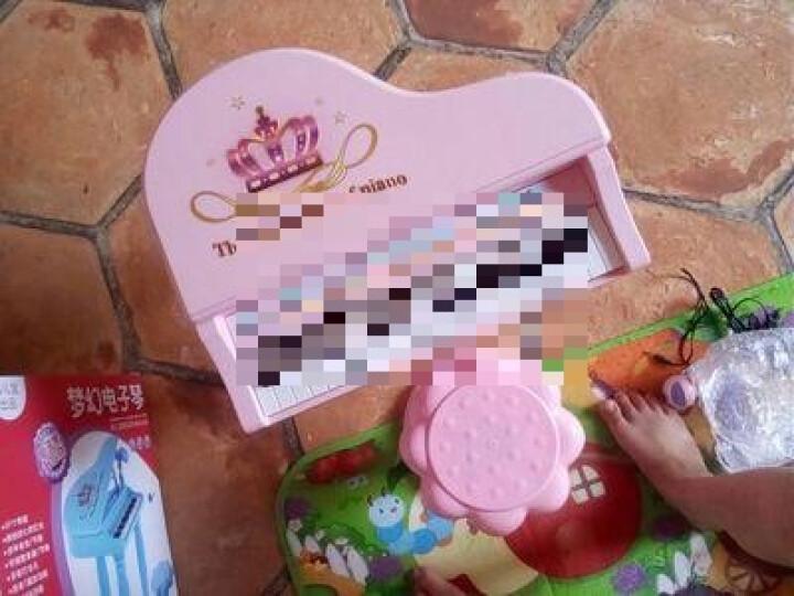 育儿宝(Yu Er Bao) 儿童电子琴钢琴3-6岁带麦克风男女孩宝宝多功能迷你音乐玩具 彩盒升级版粉(琴贴+乐谱) 晒单图