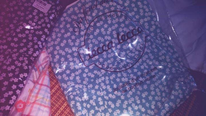 leccalecca碎花开衫睡袍睡裙女夏系带薄款性感睡衣女青年家居服春秋 吊带套装绿色 M 晒单图