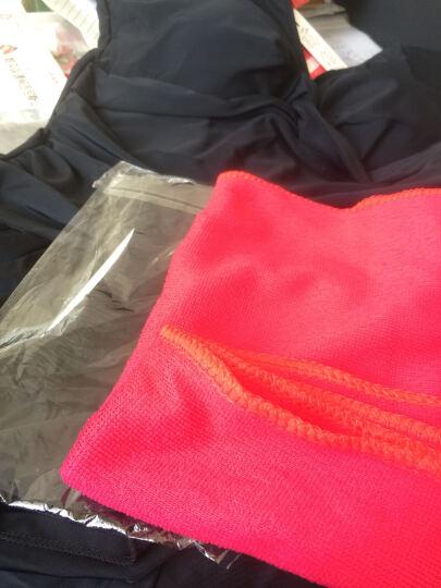 舒漫 泳衣女连体大码裙式平角保守游泳衣带胸垫温泉泳装 黑色 4XL 晒单图