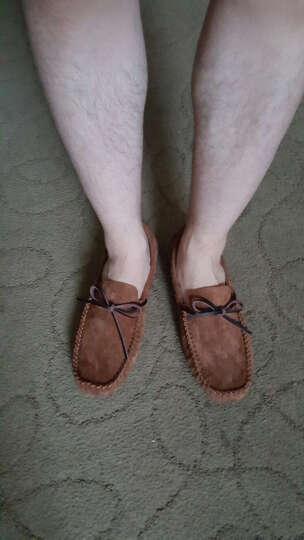 CCE豆豆鞋 真皮手工英伦耐磨驾车休闲鞋男懒人鞋子男 宝蓝(偏小 按运动鞋码拍) 43 晒单图