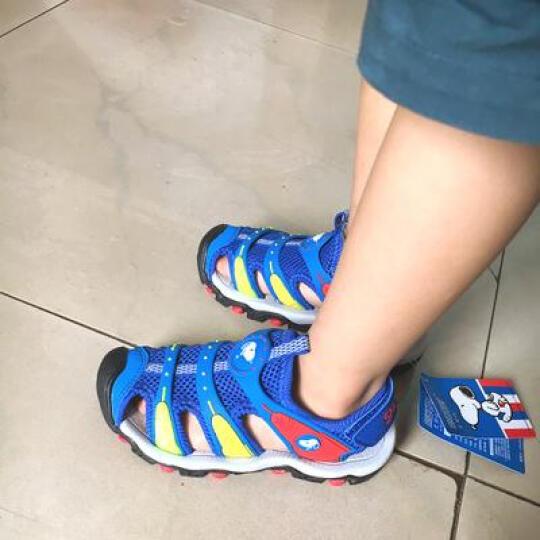 史努比儿童凉鞋夏季包头男女童 中灰色-5827 31码/內长约19.9cm 晒单图