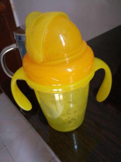 摩尔西夫 吸管杯宝宝 双层隔热学饮杯 防烫水杯 婴幼儿童带手柄防漏水杯 柠檬黄 晒单图