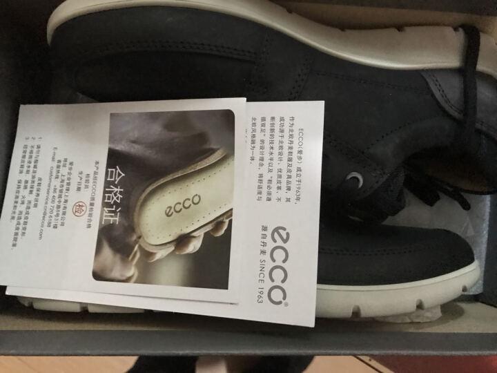 ECCO爱步 时尚简约运动休闲男鞋 透气舒适系带磨砂牛皮鞋 爱欧瓦532714 黑色58166 41 晒单图