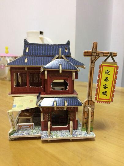 若态 3D立体拼图建筑房子DIY手工拼装木质小屋模型拼图儿童大人成年人拼图益智玩具儿童节礼物 美国汽车旅店F136(立体建筑拼图玩具) 晒单图