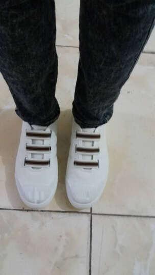 丹杰仕-夏季男装青年懒人白色无鞋带帆布鞋红色休闲走步远动板鞋配牛仔裤 黑色 44码 晒单图