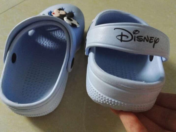 迪士尼 DISNEY 儿童凉鞋 拖鞋 男女童沙滩鞋 洞洞鞋 101浅兰33 晒单图
