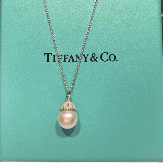 蒂芙尼蒂凡尼TIFFANY & CO.项链耳钉 女士时尚珍珠项链锁骨项链 30831985  橄榄叶珍珠耳环 晒单图