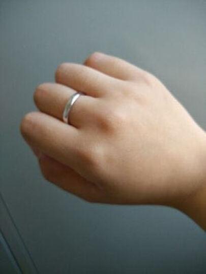 银博汇 925银对戒情侣戒指环一对价韩版婚戒银饰男女对戒子免费刻字 永恒的爱款 (调节版适合任何手指戴) 晒单图
