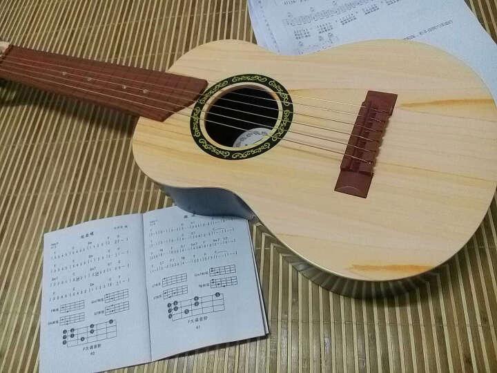 六美(LIUMEI) 尤克里里儿童小吉他民谣乌克丽丽初学者入门音乐早教玩具700 仿黄杨木6弦-23寸 晒单图