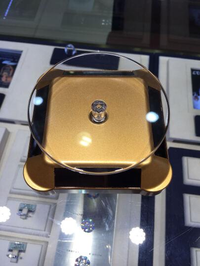 360度旋转双用太阳能手机首饰珠宝等展示托盘 手机店展示托架  光能感应展示圆盘 平台 (宝鼎)土豪金 晒单图