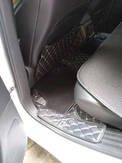 酷斯特自由光改装座椅防踢垫jeep自由光专用后排防脏防刮保护垫汽车装饰用品 升级款菱格黑色黑线(带挂钩+双面胶)三片装 晒单图