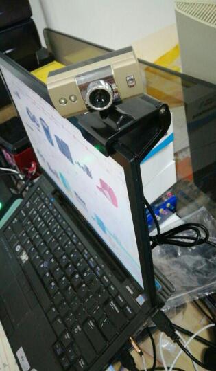 捷升 电脑摄像头台式机笔记本外置USB 高清夜视网络视频通话镜头 带麦克风 香槟金 晒单图