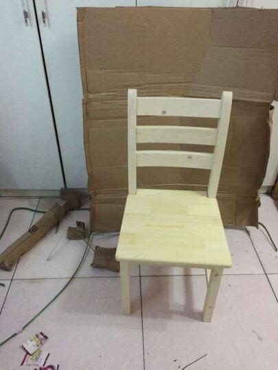 纯天然实木餐椅松木电脑椅松木椅子简约时尚靠背椅学生坐椅长椅子修闲餐桌椅子 清漆原木色 不上漆原木色 晒单图