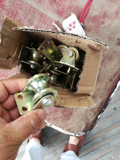 申力 彩钢1.2寸2寸2.5寸3寸4寸v型加厚角铁轨道U型圆管滑轮玻璃轨道H型轮槽轮V型轮 2.5寸直径60H型轮 晒单图