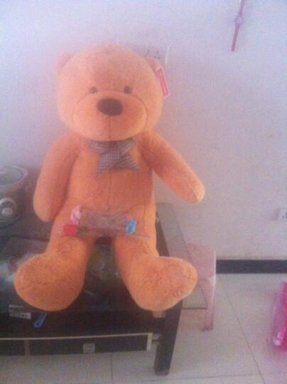 大号毛绒熊爱心围巾泰迪熊公仔女朋友生日礼物女生送女友毛绒玩具熊 浅棕丝带熊爱心毛衣丝带熊 1.2米 晒单图
