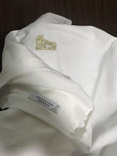 VERSACE COLLECTION 范思哲 男士深蓝色棉质圆领短袖T恤 V800683 VJ00180 V1145 XXL码 晒单图