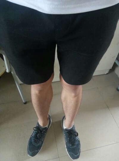 以纯线上品牌A21 2018夏装新款短裤男 舒适运动风男装抽绳休闲短裤4721370002 花灰 L 晒单图
