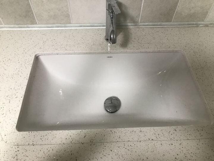 恒洁卫浴(Hegii) 全铜面盆水龙头冷热洗脸盆洗手池浴室柜台盆龙头单孔123-111 HMF123-111 晒单图