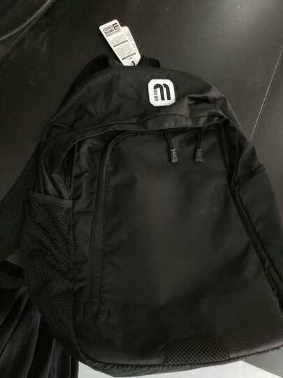 马可莱登双肩包 男士背包学生书包男韩版休闲电脑包MR_6001A 黑色肩带有字母 晒单图