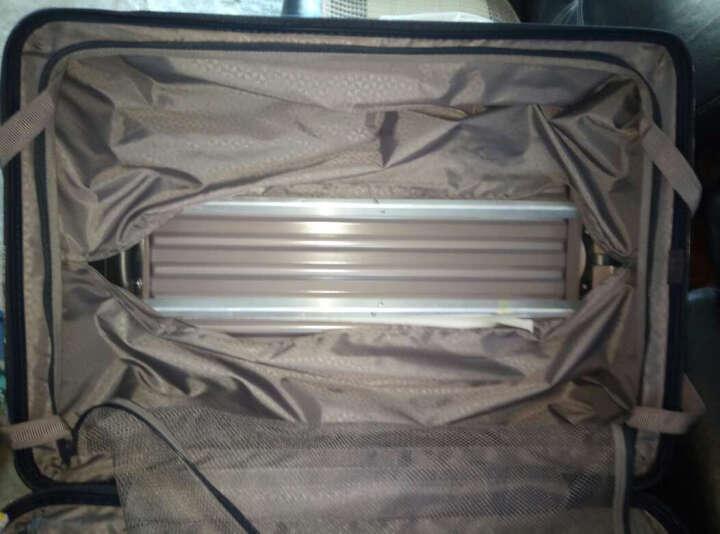 康沃CONWOOD拉杆箱万向轮行李箱男女商务登机箱PC防刮旅行箱包20英寸25英寸29英寸 银色 29英寸【需托运】 晒单图