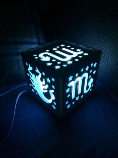 教师节礼物教师节礼物安礼轩 简约创意十二星座LED装饰台灯床头氛围夜灯台灯 狮子座 晒单图
