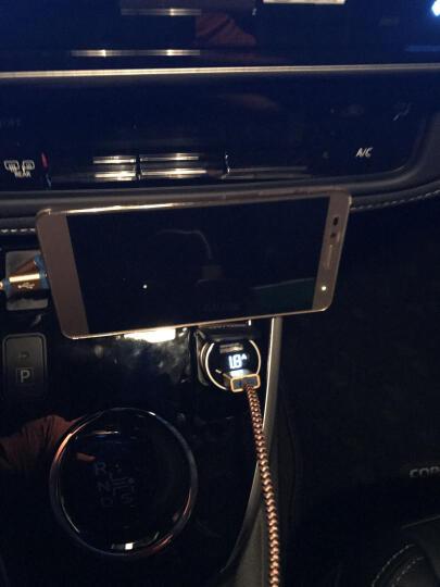 公牛 (BULL)车载充电器 车充点烟器 GNV-CD1180 银色5V/3.6A双USB一拖二 电压检测LED数显 金属材质 晒单图