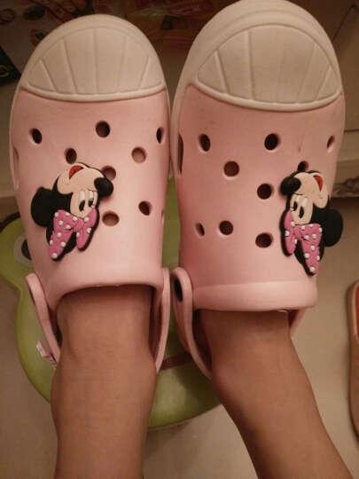 迪士尼 DISNEY 儿童凉鞋 拖鞋 男女童沙滩鞋 洞洞鞋 101粉红34 晒单图