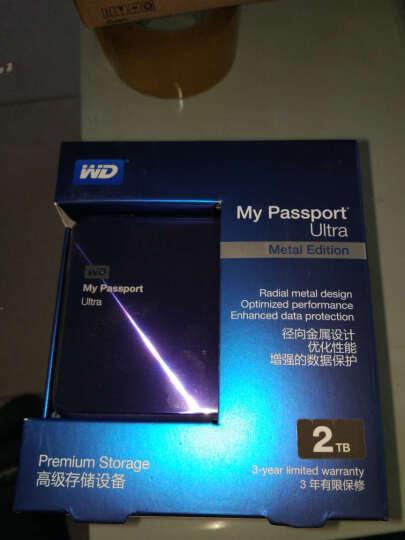 西部数据(WD)My Passport Ultra 金属版USB3.0 2TB 超便携移动硬盘 (宝石蓝)WDBEZW0020BBA 晒单图