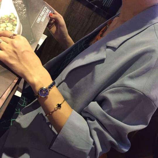 格诺雅(GENUOYA)时尚简约防水个性小表盘女士手表韩版学生休闲手表女式手链石英女表女生 096玫金钢带星空款 晒单图