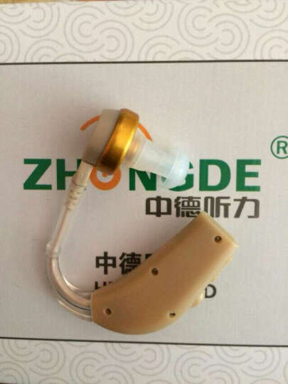 中德(zhongde) 中德助听器老年人隐形无线耳挂式入耳式耳聋耳背式耳道式 电池款901A左耳数字通道 晒单图