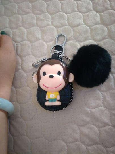 菲木 创意小巧汽车钥匙包女士款可爱韩国镶钻车用卡通拉链钥匙包情人节送女友闺蜜生日礼物 黑毛球葫芦包 晒单图