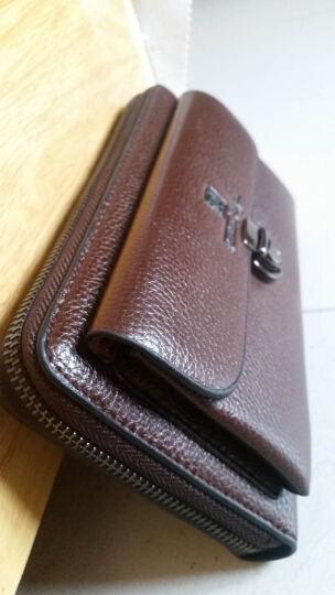 梵士汇(F4Y)JS-4111 男士钱包 商务休闲钱夹超多卡位多功能长款手拿包 深棕 晒单图