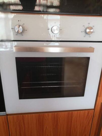 scandomestic 丹麦诗凯SCAN白色嵌入式电烤箱家用机械内嵌立体循环搪瓷内胆 白色 晒单图