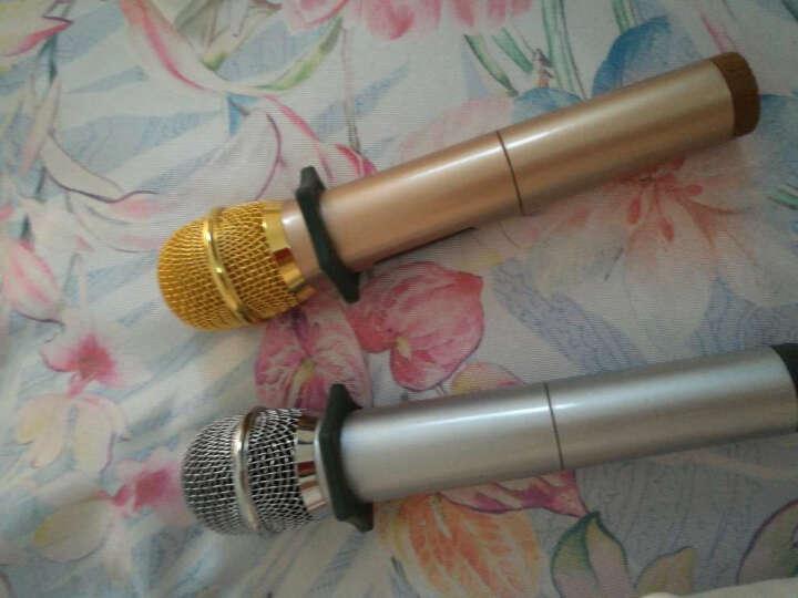 yunque云雀之声K18U无线蓝牙录音手持麦克风话筒唱歌K歌家用手机电视电脑家庭唱吧专用 金银套装加音响 晒单图