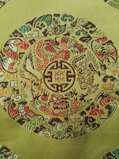 织锦缎布料 丝绸布 唐装旗袍 凤尾龙纹花纹 仿古装 汉服布料面料 幅宽150cm 长度1米 大红石榴花 晒单图