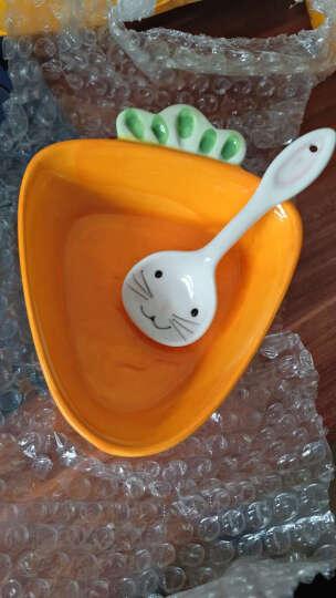 创意卡通陶瓷碗   手绘小白兔沙拉碗 抱抱兔胡萝卜碗 白菜兔碗+勺子 晒单图